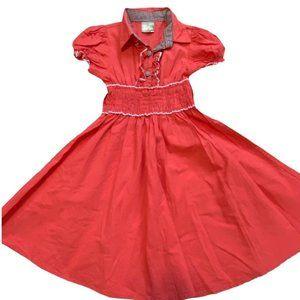 Maria Elena Sz 5 Girls A-Line Coral Dress